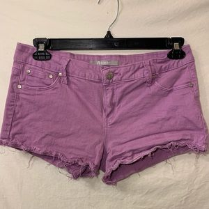 Purple tractr mini shorts